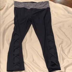 Navy awesome workout pants